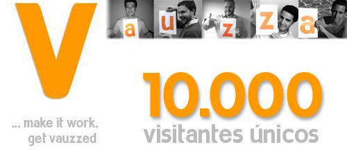 10000 visitantes únicos en Vauzza
